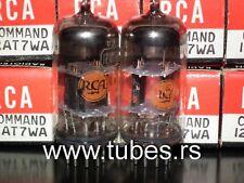 12AT7WA RCA Command Series NOS NIB platinum matched pair