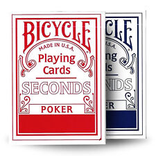 Bicycle SECONDS playing cards 1 Deck Red or Blue Poker Magic tricks Standard USA