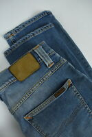 RRP €198 NUDIE GRIM TIM SALTY STONE Men's W30/L32 Faded Blue Jeans 4248_mm