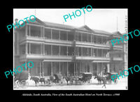 OLD POSTCARD SIZE PHOTO ADELAIDE SOUTH AUSTRALIA SOUTH AUSTRALIAN HOTEL c1900