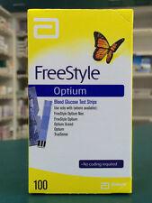 Abbott Freestyle Optium Blood Glucose Test Strips 100 No Coding Required