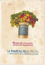 ADVERTISING - MAGNESIA POLLI - STITICHEZZA - ILLUSTRATORE R. DI TASSA