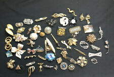 Lot of 57 Vintage Retro Fashion Pins Brooch Assorted Styles & Sizes Over 1 Pound