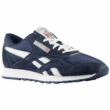 Reebok 39749 CL Nylon Team Navy/Platinum Casual Walking Comfort Sneakers