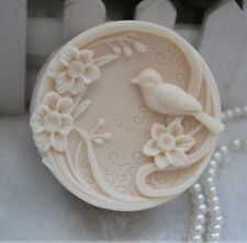1pcs Plum Birds (zx119) Silicone Handmade Soap Mold Crafts DIY Mould