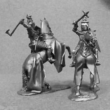 Miniature Figures Cavalry Medieval Knight Battle 1/32 Army Toy Tin Soldier 54mm