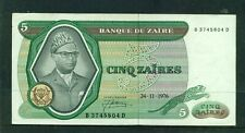 ZAIRE - 1976 5 Zaire Circulated Banknote