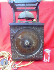 Huge Pre 1670 RARE Verge & Foliot Alarm Weight Wall Clock--Must See!