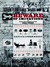 A3 Poster - Beware of Imitations Herman Miller Poster for Eames Chairs 1963