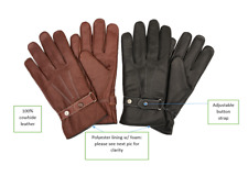 Men's 100% Genuin Leather Cowhide Driving Riding Winter Gloves Soft/Luxury