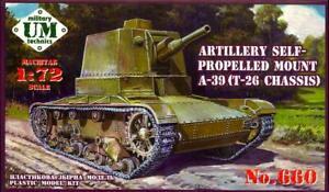 UM-MT Models 1/72 Soviet A-39 (T-26 Chassis) SELF PROPELLED ARTILLERY