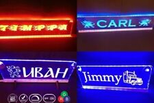12V Custom LED 500mm Your Name plate Sign Scania Man with  RGB controller Dimmer