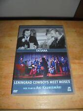 """KAURISMAKI """"TATJANA + LENINGRAD COWBOYS MEET MOSES"""" DVD DOLMEN"""