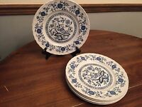 "Wedgwood ""Blue Heritage"" Enoch England ~ Set of 5 ~ Dinner Plates ~ 10"""