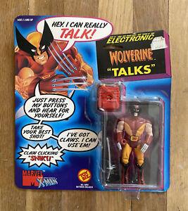 Vintage 1991 WOLVERINE Uncanny X-Men Talking Electronic Action Figure Toy