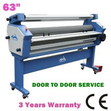 """US Stock 63"""" Full-auto Cold Laminator, Laminating Machine with Heat Assisted"""