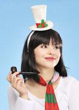 White Christmas Mini Top Hat on Headband
