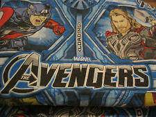 Marvel AVENGERS FULL Flat Sheet Comic Book Superheroes Colorful Brights