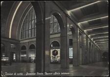 cartolina TORINO di notte-stazione porta nuova-atrio interno