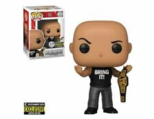 WWE The Rock with Championship Belt Pop EE Excl PRE-ORDER Mint with Protector