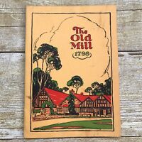 Vintage Menu The Old Mill Restaurant 1948 Canada Humber River Ontario History