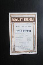 c 1926    ROYALTY THEATRE BILLETED ADVERTISING CARD DENNIS EADIE
