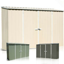 Absco Eco Double Door Shed 3m(W) x 0.78m(D) x 1.95m(H) Colour Garden Sheds