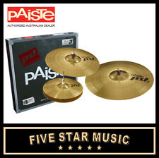 "PAISTE PST3 UNIVERSAL CYMBAL SET 14"" HATS 16"" CRASH 20"" RIDE PST-3 PACK NEW KIT"