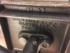 "Vintage Columbian 16"" Woodworking Wood Vise w/ Swivel Cleveland USA"