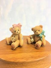Cherished Teddies Mini Key Locket Boy and Girl 1998 Used