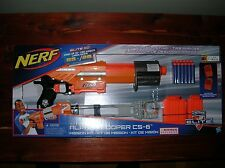 NEW NIB Nerf Elite Complete Orange Alpha Trooper CS-6 Blaster Gun NEXT DAY SHIP