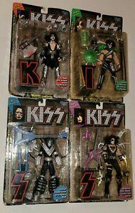 1997 McFarlane KISS Ultra Action Figures Full Set Gene, Peter, Ace & Paul - READ