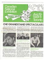 Canadian National Exhibition May 1971 Brochure Jerry Lewis Johnny Cash