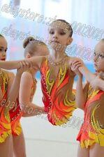 Girls' rhythmic gymnastic leotard.Aerobic gymnastic baton competition costume