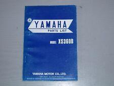 YAMAHA XS360D PARTS MANUAL