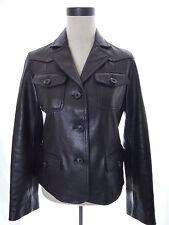WILSONS women's leather jacket black S four pockets Small