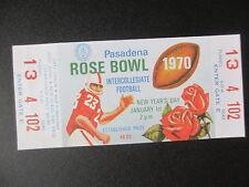 1970 Rose Bowl USC Trojans vs Michigan Football Ticket Official Reproduction