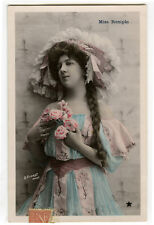 c 1906 Pretty Young LADY IN COSTUME Miss Remple Showgirl French photo postcard