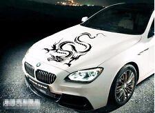 1*Y black dragon head Vinyl emblem sticker Decals FOR Car auto motor hood side