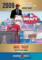 MIKE TROUT  2009 #1 GOLD PLATINUM LIMITED DRAFT PICK ROOKIE CARD ONLY 2000 MADE.