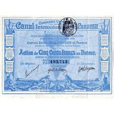 [Action] Compagnie Universelle Du Canal Interoceanique De Panama.