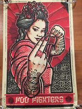 Foo Fighters Poster 6/25/2019 Fængslet Horsens Denmark, Tattoo, Rare Sign#/400!