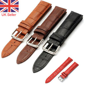 Mens Genuine Leather Watch Strap Twister Red Black Brown 18mm 20mm 22mm 24mm UK