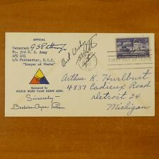 Captain George S. Patton General Son Signed First Day Cover Cachet