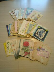 Antique Vintage Greeting Cards Lot Of 105