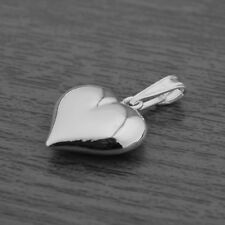 Genuine 925 Sterling Silver 3D Puffed Heart Pendant (without Chain/Necklace)