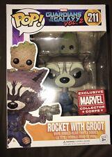Rocket with Groot  #211 Exclusive Marvel Collector Corps Pop Vinyl Figure
