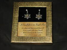 Snowflake Earrings Angels Crystals Jewelry Pierced NEW!