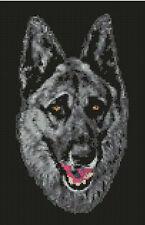 "German Shepherd Alsation Head Counted Cross Stitch Kit 7.25"" x 11.25"" D2337"