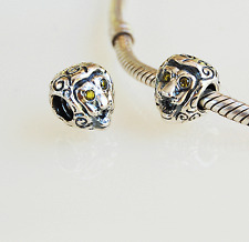 New Auth 925 Sterling Silver Charm Bead for Bracelets - Lion with green CZ Eyes